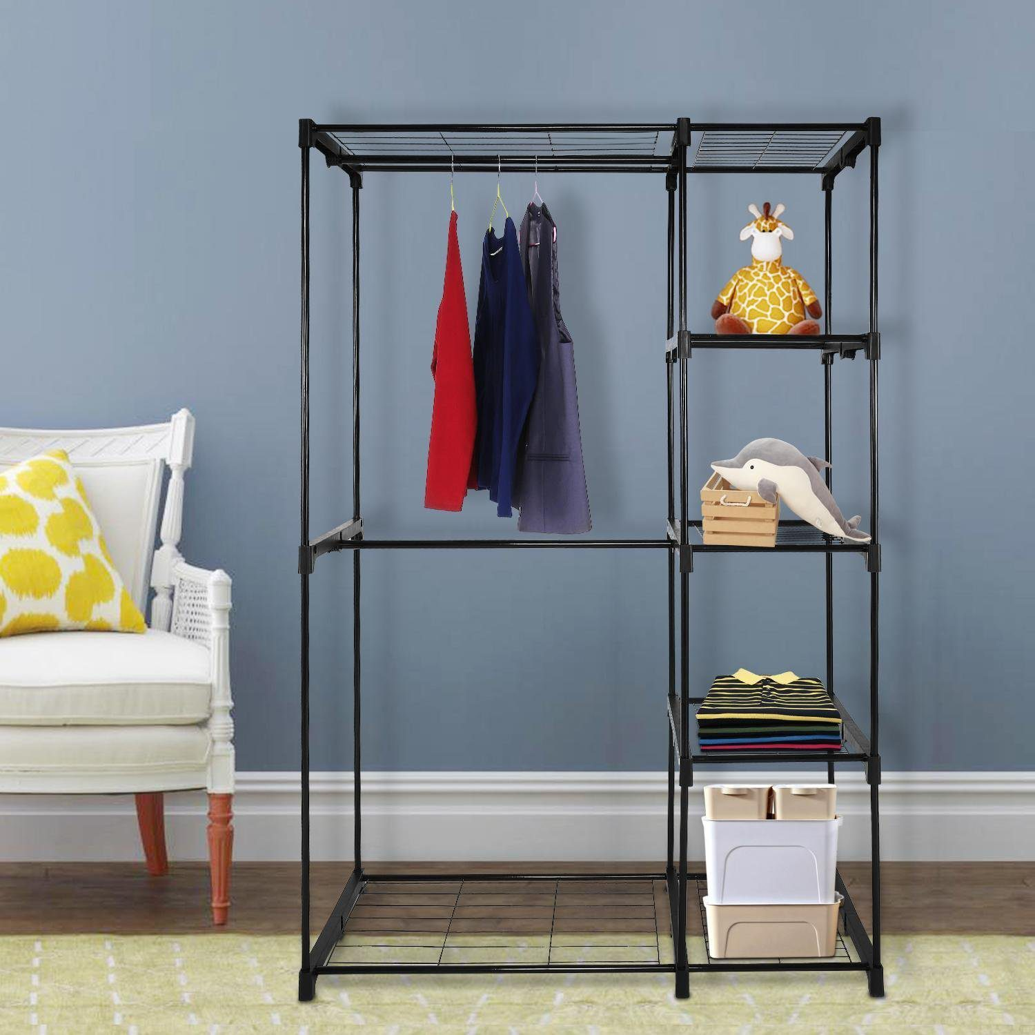 Deals Finders | Amazon : Double Rod Freestanding Closet Organizer Just  $39.89 (Reg : $56.99) After Promo Code!