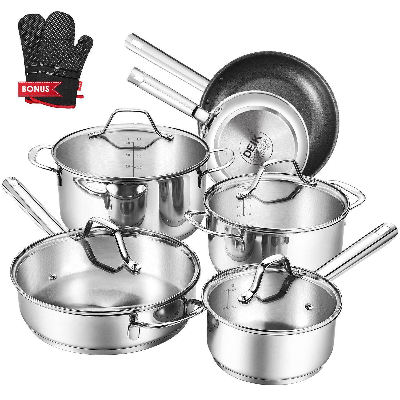 Deals Finders | Amazon : Stainless Steel 12-Piece Kitchenware Set ...