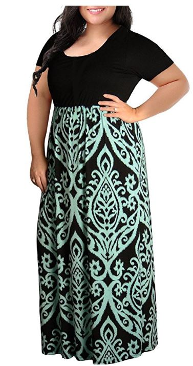 Deals Finders | Amazon: Women Plus Size Maxi Dresses Chevron ...