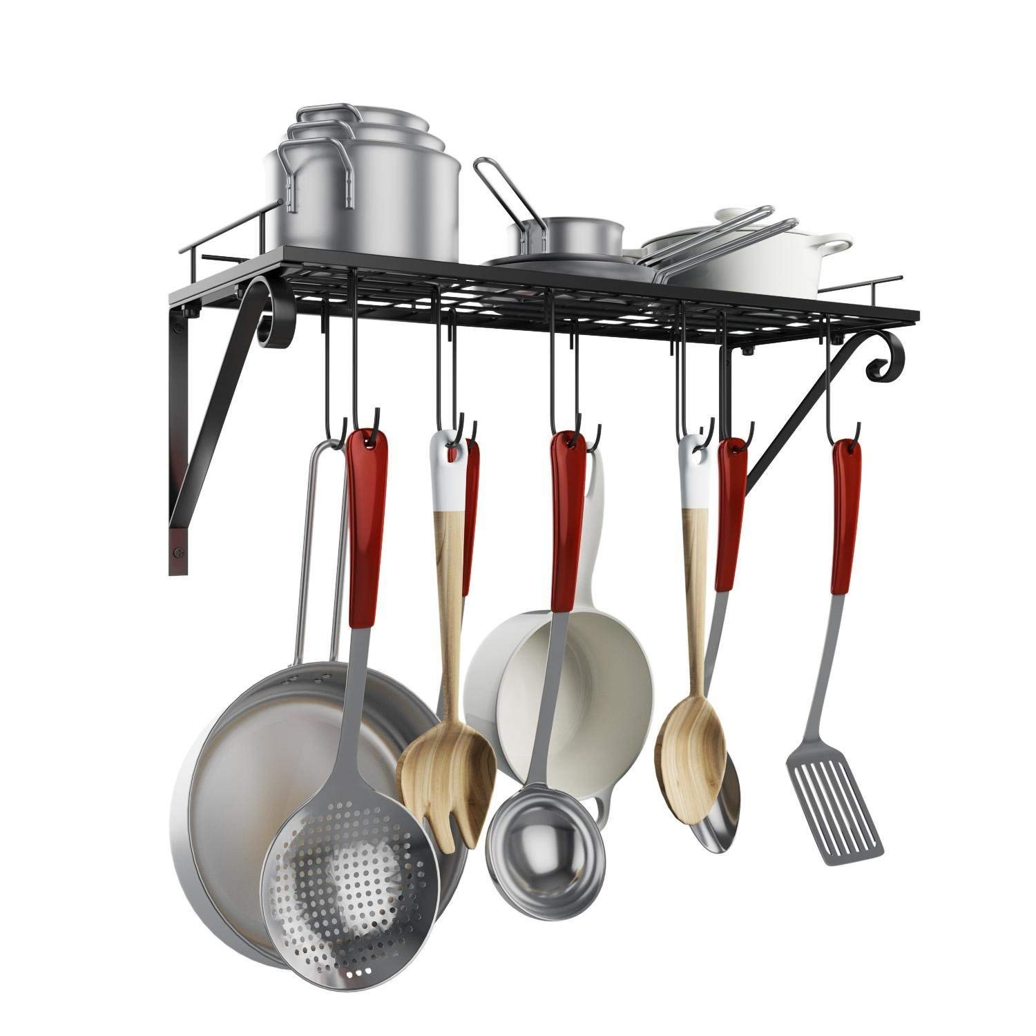 Deals Finders | Amazon: Home Kitchen Wall Pot Pan Rack, Wall ...