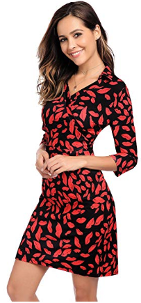 Women s V-Neck 3 4 Sleeve Knee Length Sexy Cocktail Party Midi Bodycon Dress.  Hurry Up………………………Price   Code may change at any time! 0164a0f26