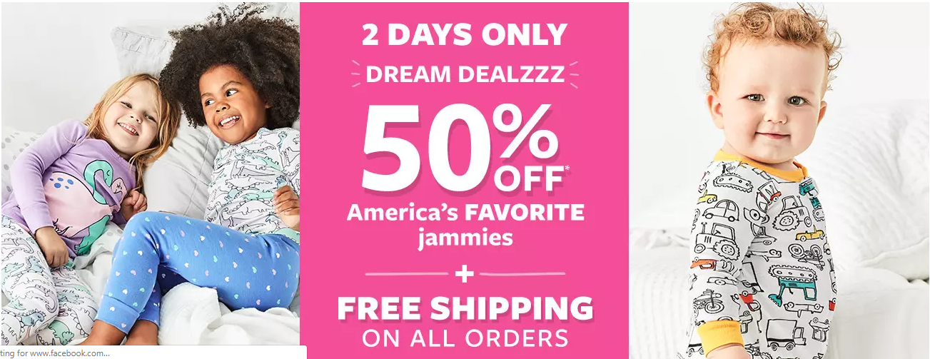 1c4312261 Deals Finders | 50% Off Carter's Jammies + FREE Shipping (Starting From $8)  - Deals Finders