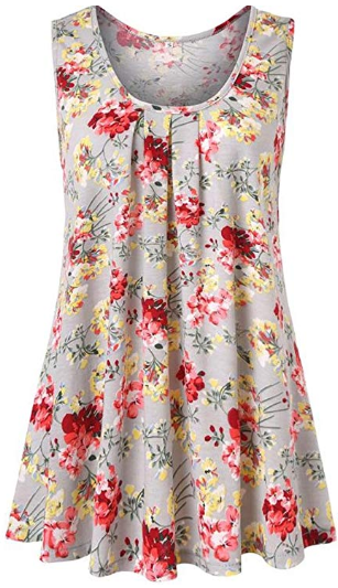 af73df8d71a Women's Floral Print Sleeveless Loose Casual Flowy Tunic Tank Top A. Hurry  Up………………………Price & Code may change at any time!